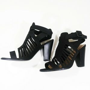 🔶 3/$20 Strappy black heels size 9 used on size 9